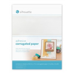 Carta corrugata adesiva cartoncino mille righe Silhouette