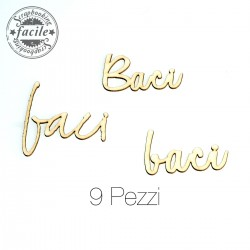 Abbellimenti in cartone vegetale Scrapbooking Facile - Baci, 3 Grafiche