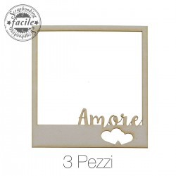 Abbellimenti in cartone vegetale Scrapbooking Facile - Amore Polaroid