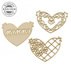 Abbellimenti in cartone vegetale Scrapbooking Facile - Cuori di mamma