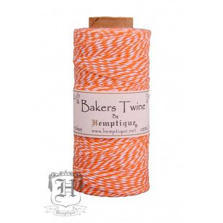 Bakers Twine by Hemptique Cotton - Orange & White