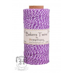 Bakers Twine by Hemptique Cotton - Purple & White