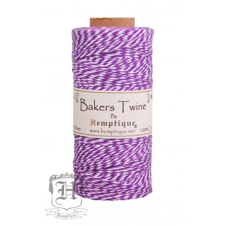 Bakers Twine by Hemptique Cotton - Purple & White