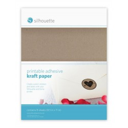 Carta kraft stampabile adesiva Silhouette