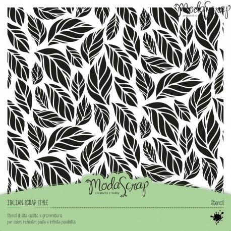 Stencil ModaScrap - foglie1