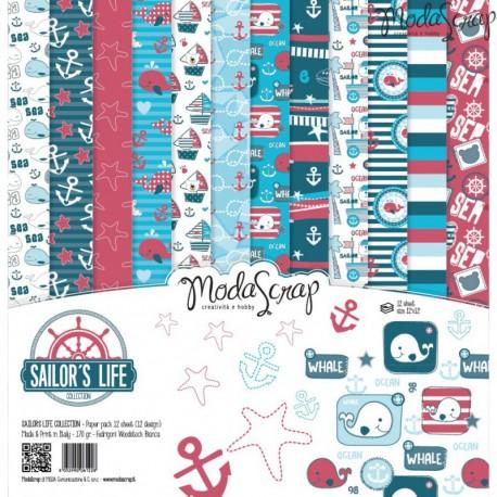 Kit carte ModaScrap - Sailor's LIfe