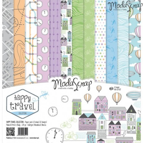 Kit carte ModaScrap - Happy Travel