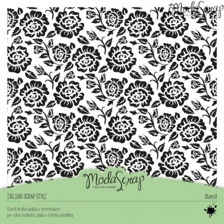 Stencil ModaScrap - Rose