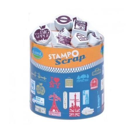 Confezione Mini Timbri Cling Aladine - London/NY