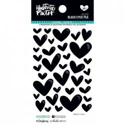 Enamel Hearts Illustrated Faith - Black Eyed Pea