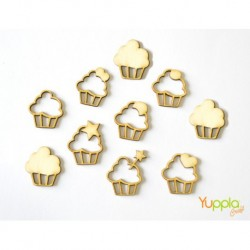 Abbellimenti in cartone vegetale Yuppla - Dolci Dolcezze - Cupcakes