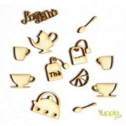 Abbellimenti in cartone vegetale Yuppla - Cucina & Co - L'ora del Thè