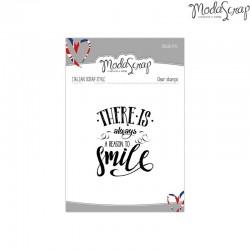 Timbro Clear ModaScrap English Style - SMILE