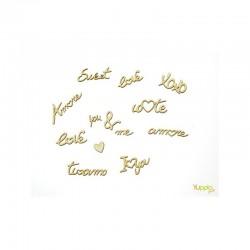 Abbellimenti in cartone vegetale Yuppla - Amore - Scritte D'Amore