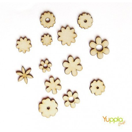 Abbellimenti in cartone vegetale Yuppla - Natura - Fiori Primavera