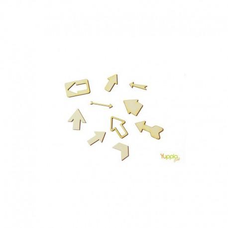 Abbellimenti in cartone vegetale Yuppla - Gli Essenziali - Frecce