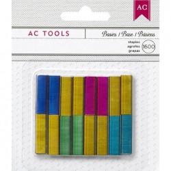 Punti per pinzatrice colorati - American Crafts