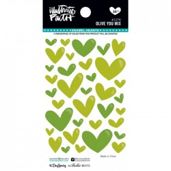 Enamel Hearts Illustrated Faith - Olive You Mix