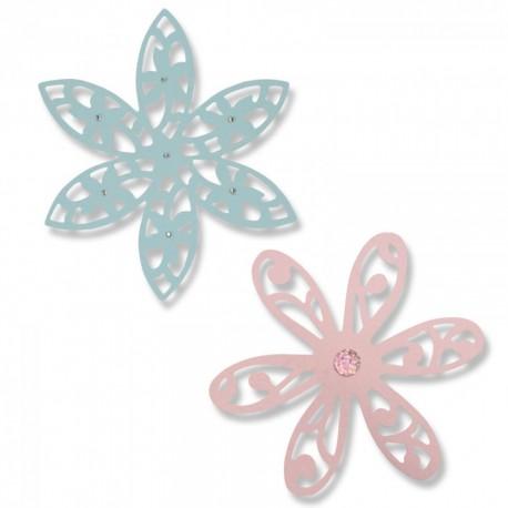 Fustella Sizzix Thinlits - Intricate Delightful Daisy