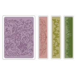 Fustella Sizzix TI A2 Tim Holtz - Springtime Background & Borders Set