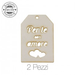 Abbellimenti in cartone vegetale Scrapbooking Facile - Per te Tag
