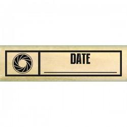 Timbro legno Florileges - etiquette date