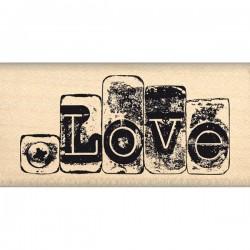 Timbro legno Florileges - Love Metallise