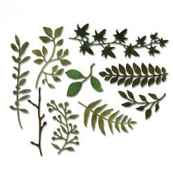 Fustella Sizzix Thinlits T. Holtz - Garden Greens