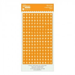 Alfabeto Stickers Jillibean Soup - Orange Tangerine