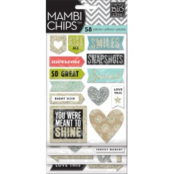 Stickers Chips Me&My Big Ideas - Silver & Gold Glitter