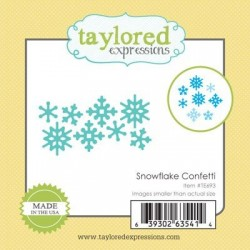 Fustella Taylored Expressions - snowflake confetti