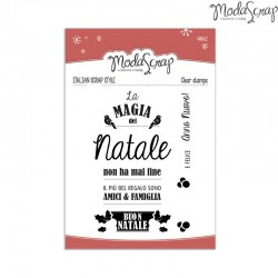 Timbro Clear ModaScrap Natale - LA MAGIA DEL NATALE
