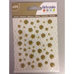 Enamel Dots Artemio - Glitter - Oro