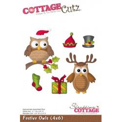 Fustella Cottage Cutz - Festive Owl