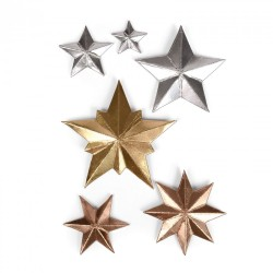 Fustella Sizzix Thinlits T. Holtz - Dimensional Stars