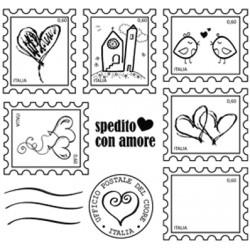 Timbro Cling Impronte d'Autore - Spedito con Amore