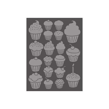 Embossing Folder Craft Concepts - Cupcakes
