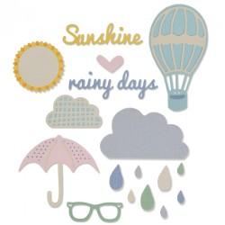 Fustella Sizzix Thinlits - Rainy Days & Sunshine