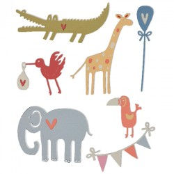 Fustella Sizzix Thinlits - Baby Animals