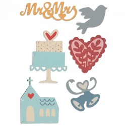 Fustella Sizzix Thinlits - Wedding