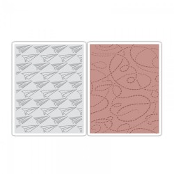 Fustella Sizzix TI A2 T.Holtz - Paper Airplane & Dotted Lines Set