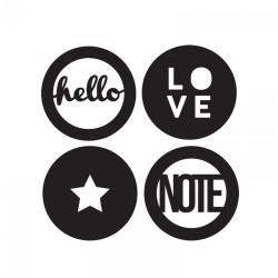Fustella e Timbro Sizzix - Circle Words