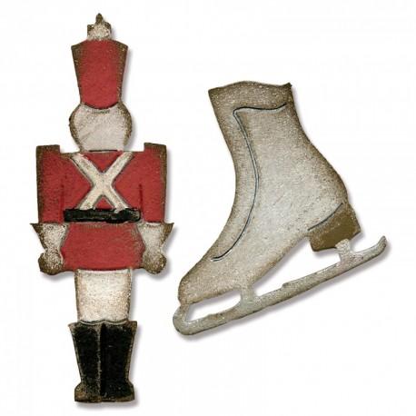 Fustella Sizzix M&S T.Holtz - Mini Toy Soldier & Ice Skate