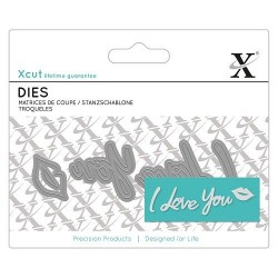 Fustelle Xcut - Mini Sentiments - I Love You