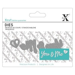 Fustelle Xcut - Mini Sentiments - You & Me