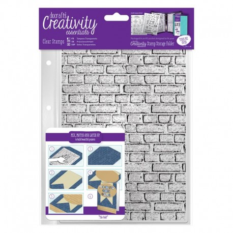 Timbro clear Docrafts - Brickwork Background