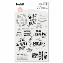 Timbri Kesi'art clear - Tampons - Wild And Free