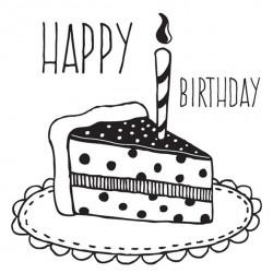 Timbro Legno Aladine - Torta di Compleanno