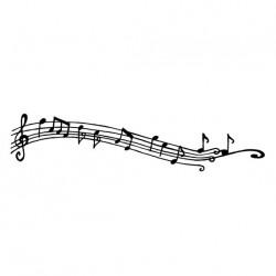 Timbro Legno Aladine - Note Musicali