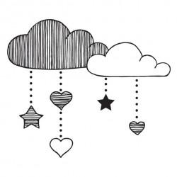 Timbro Legno Aladine - Nuvole